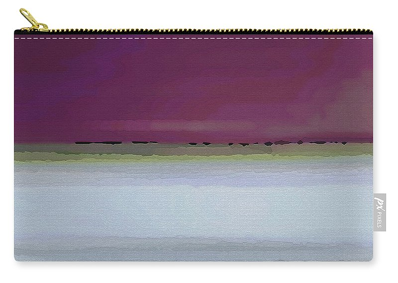 Abstract Carry-all Pouch featuring the digital art Straight Across by Ruth Palmer