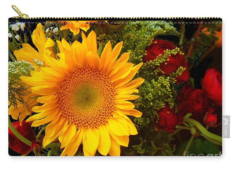 Sunflower Carry-all Pouch featuring the photograph Straight No Chaser by RC DeWinter
