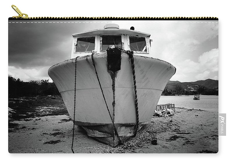 Antigua And Barbuda Carry-all Pouch featuring the photograph Stranded by Ferry Zievinger