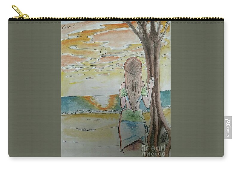 Island Carry-all Pouch featuring the painting Stranded by Lauren Champion