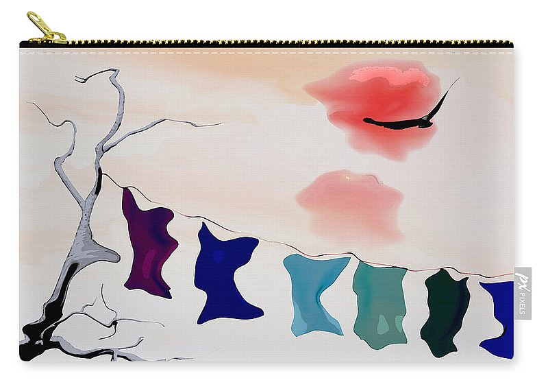 Strange Carry-all Pouch featuring the digital art Strange Afternoon by Richard Rizzo