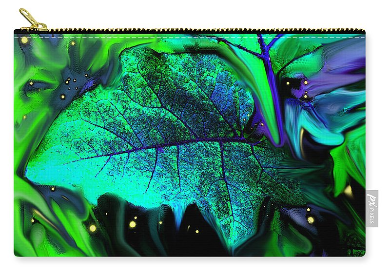 Abstract Carry-all Pouch featuring the digital art Strange Green World by Ian MacDonald