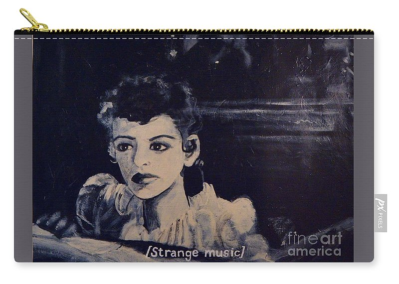 Strange Carry-all Pouch featuring the painting Strange Music by Wess Loudenslager