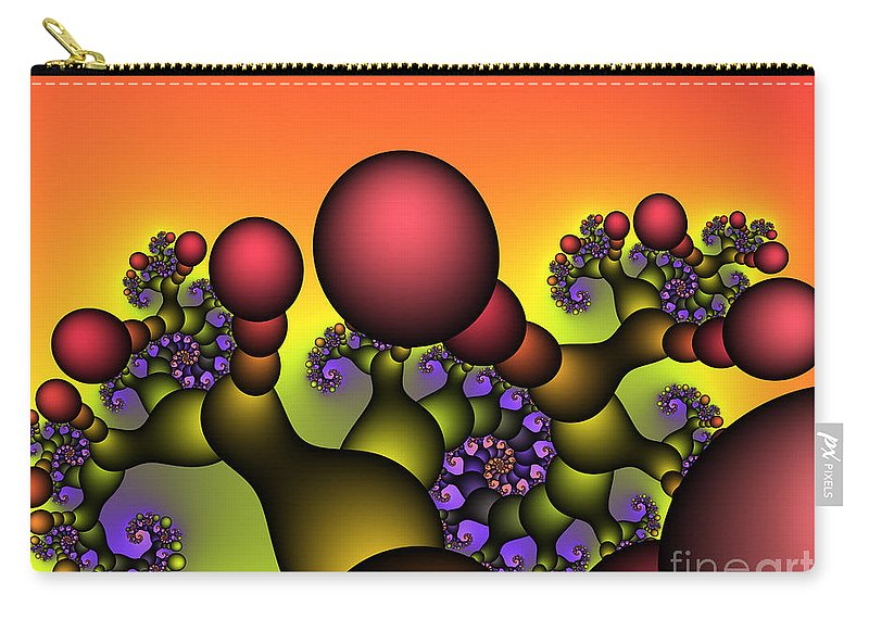 Fractal Carry-all Pouch featuring the digital art Strange World by Jutta Maria Pusl