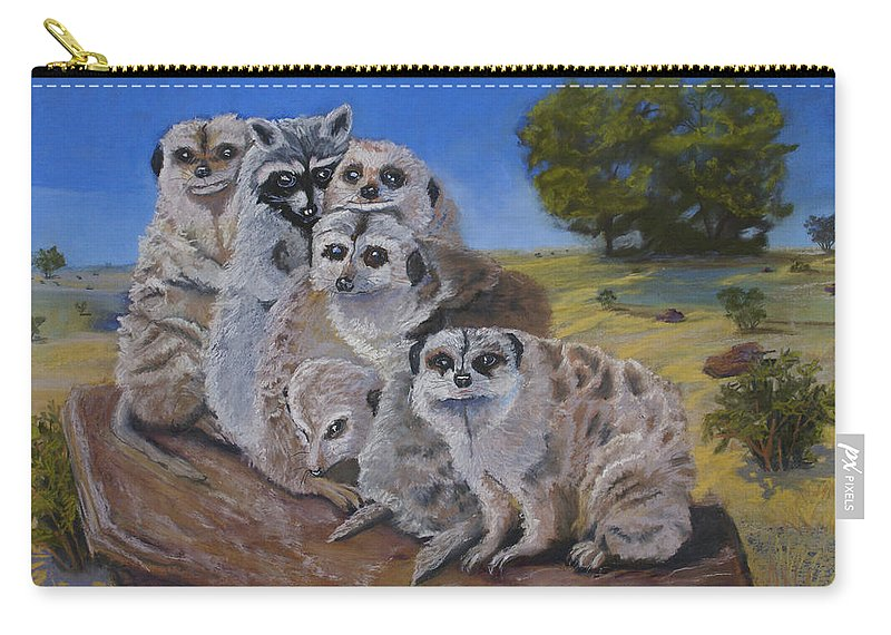 Meer Cat Carry-all Pouch featuring the painting Stranger In A Strange Land by Heather Coen