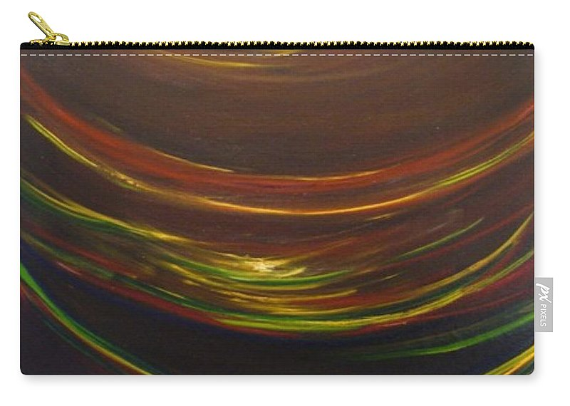 Rainbow Red Yellow Obama Carry-all Pouch featuring the painting Strata Surf by Jack Diamond