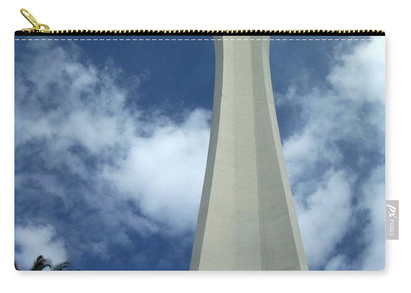 Stratosphere Tower Carry-all Pouch featuring the photograph Stratosphere Tower by Anita Burgermeister