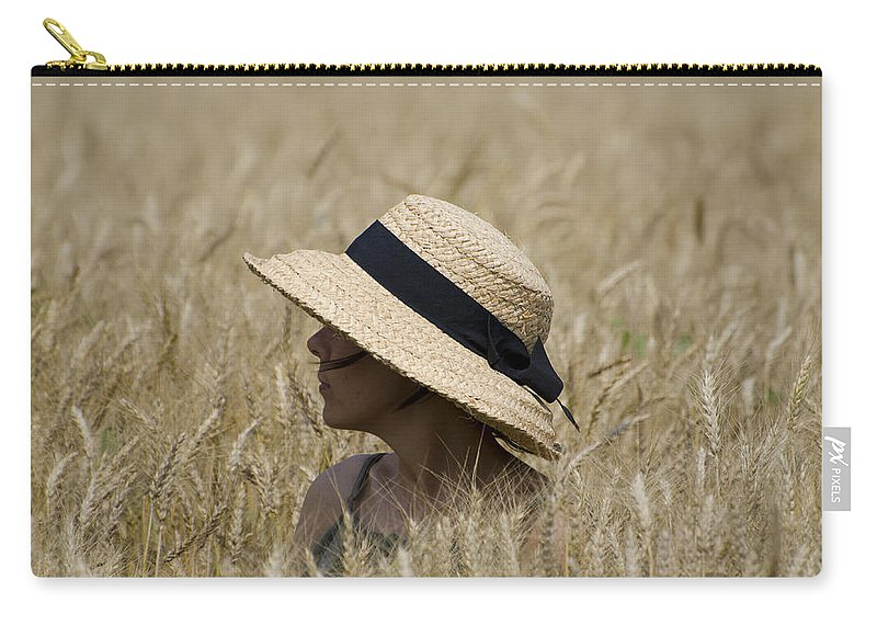 Woman Carry-all Pouch featuring the photograph Straw Hat by Mats Silvan