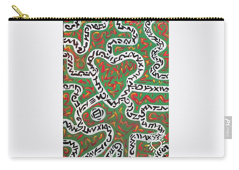 Abstract Carry-all Pouch featuring the painting Strawberry Fields by Parker Beaudoin
