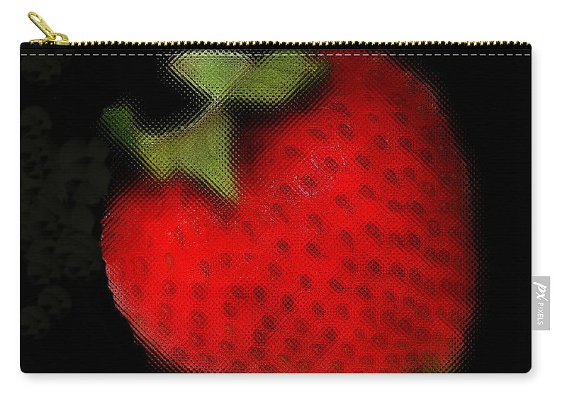 Still Life Carry-all Pouch featuring the photograph Strawberry by Linda Sannuti