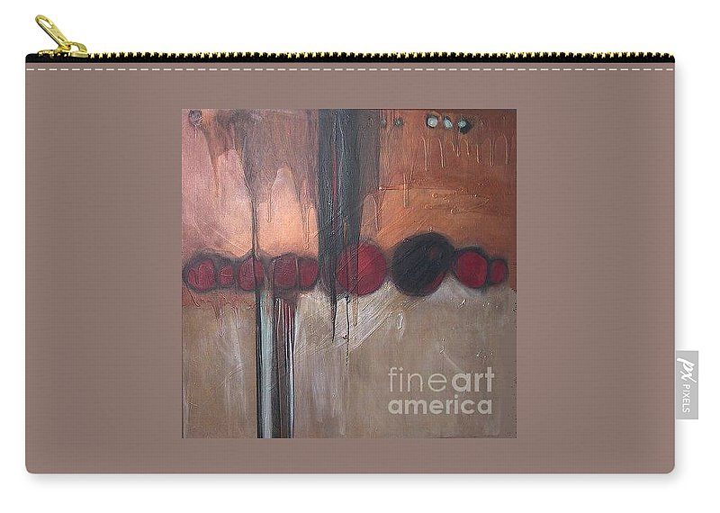 Metallics Carry-all Pouch featuring the painting Streak by Marlene Burns