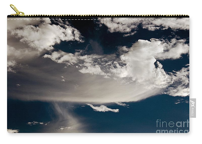 Clay Carry-all Pouch featuring the photograph Streakin' Cloud by Clayton Bruster