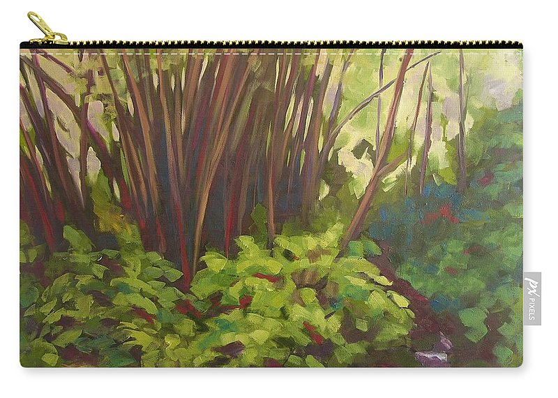 Hawaiian Carry-all Pouch featuring the painting Stream Near Akaka Falls by Mary McInnis