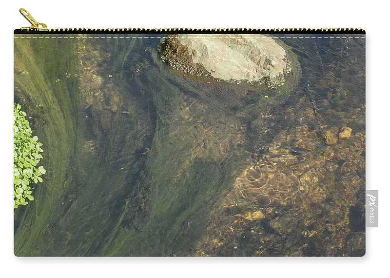 Water Carry-all Pouch featuring the photograph Stream Of Weeds IIi by Lori Lynn Sadelack