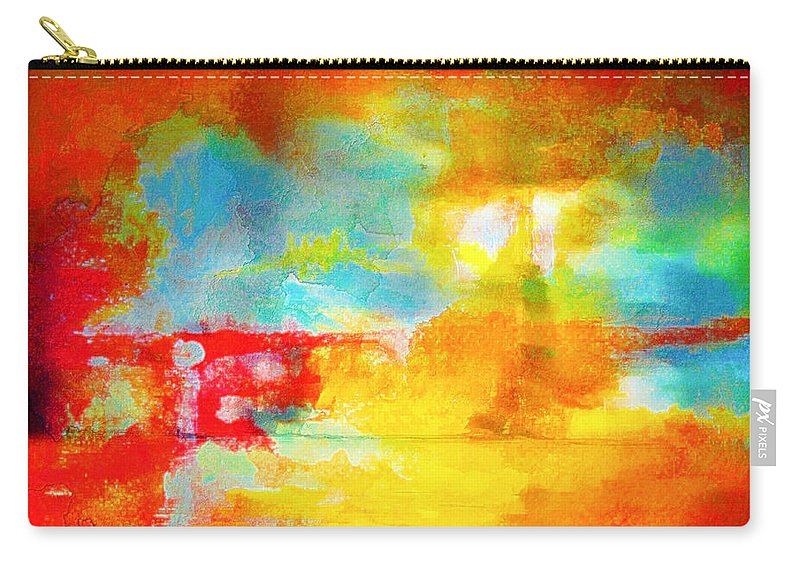 Abstract Carry-all Pouch featuring the photograph Street Abstract by Tom Gowanlock