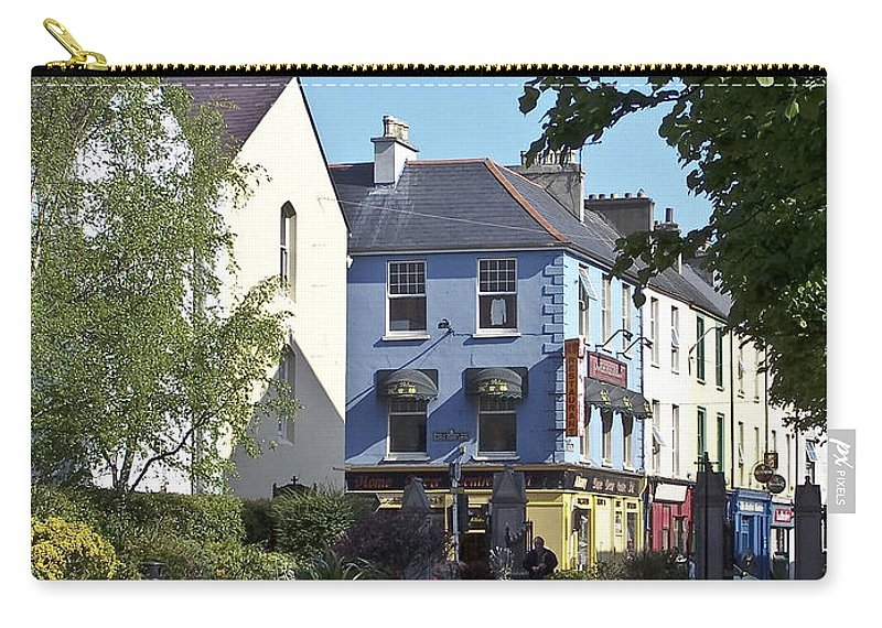 Irish Carry-all Pouch featuring the photograph Street Corner In Tralee Ireland by Teresa Mucha