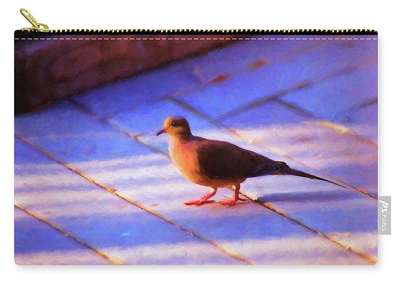 Birds Carry-all Pouch featuring the photograph Street Dove by Jan Amiss Photography
