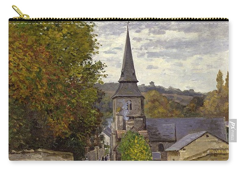 Street In Sainte-adresse Carry-all Pouch featuring the painting Street In Sainte Adresse by Claude Monet