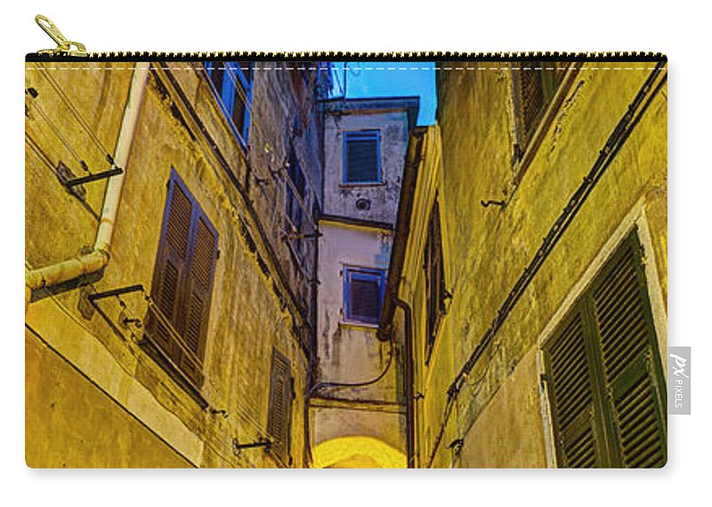 Cinque Terre Carry-all Pouch featuring the photograph Street In Vernazza by Weston Westmoreland