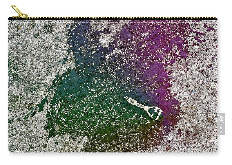 Clay Carry-all Pouch featuring the photograph Street Painter by Clayton Bruster