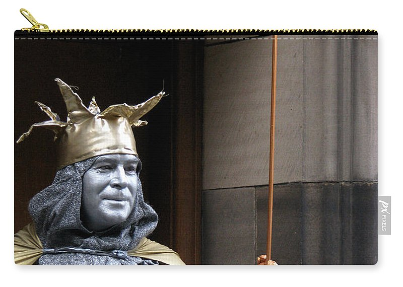 Street Performer Carry-all Pouch featuring the photograph Street Performer by Amanda Barcon