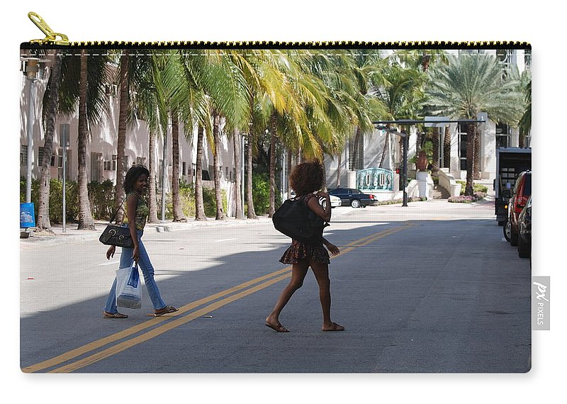 Girls Carry-all Pouch featuring the photograph Street Walkers by Rob Hans