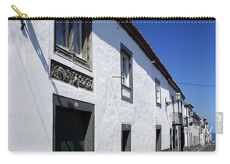 Portugal Carry-all Pouch featuring the photograph Streets Of Ribeira Grande by Gaspar Avila
