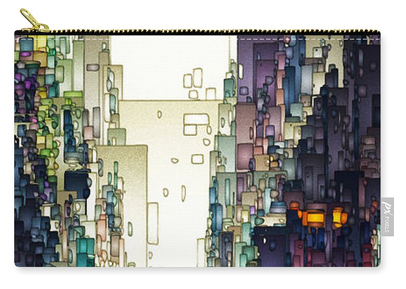 Digital Carry-all Pouch featuring the digital art Streetscape 1 by David Hansen