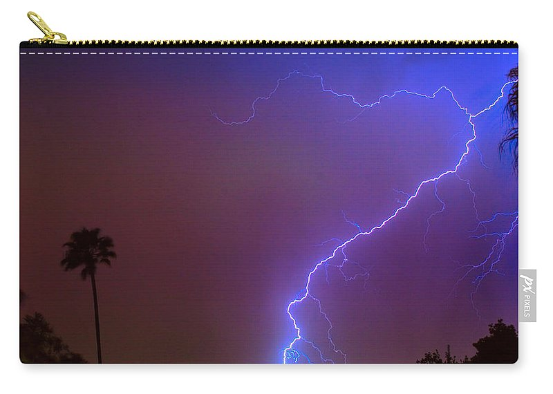Lightning Carry-all Pouch featuring the photograph Striking Out by James BO Insogna