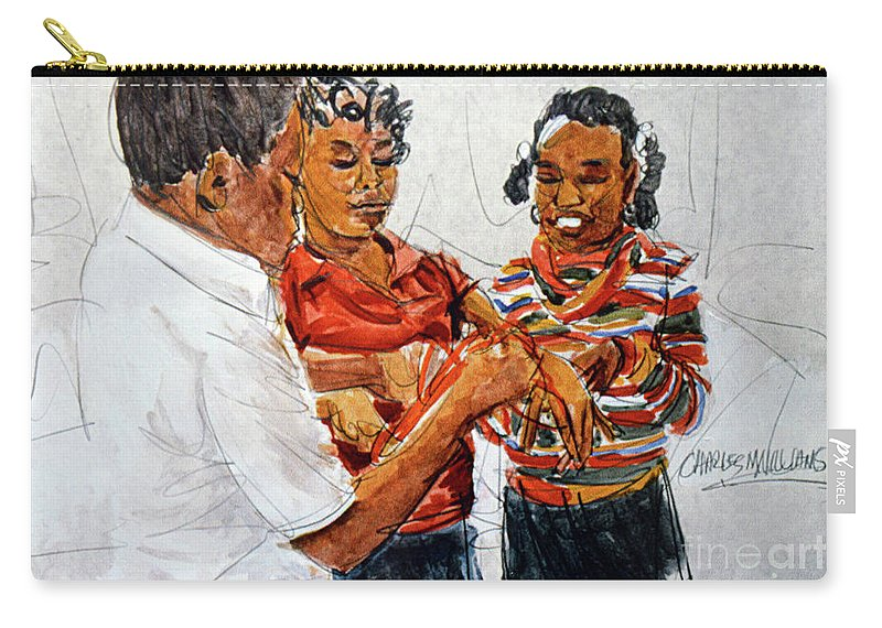 Children Carry-all Pouch featuring the painting String Games by Charles M Williams