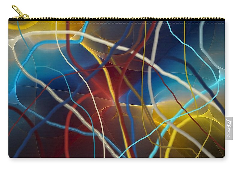 Fine Art Carry-all Pouch featuring the digital art String Theory by David Lane