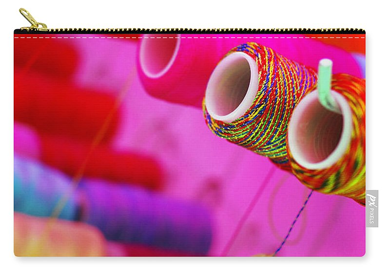 Color Carry-all Pouch featuring the photograph String Theory by Skip Hunt