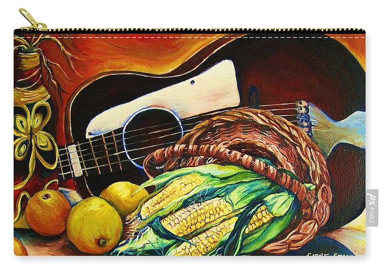 Country Life Carry-all Pouch featuring the painting Strings Attached by Carole Spandau