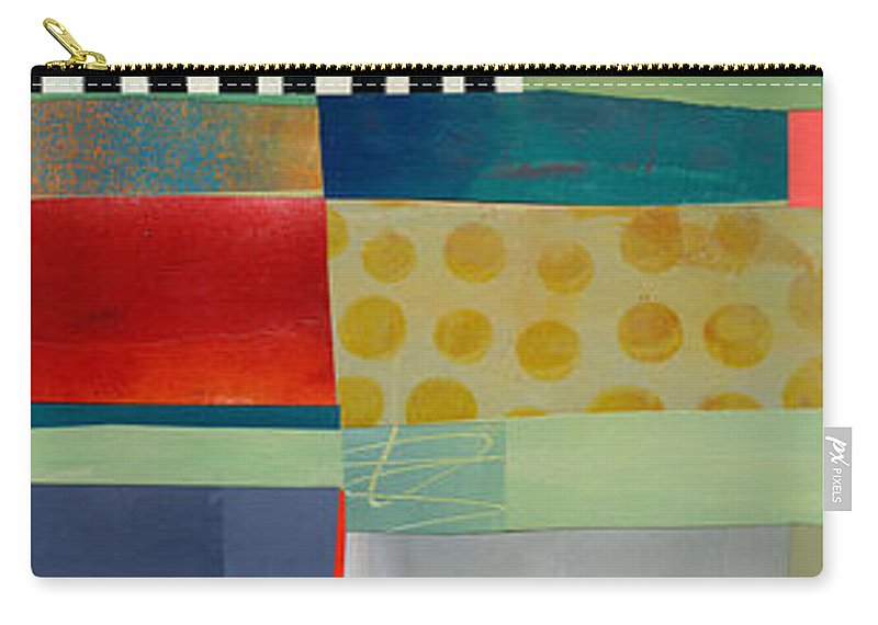 Abstract Art Carry-all Pouch featuring the painting Stripe Assemblage 2 by Jane Davies