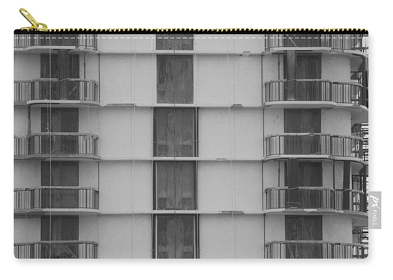 Black And White Carry-all Pouch featuring the photograph Stripes by Rob Hans