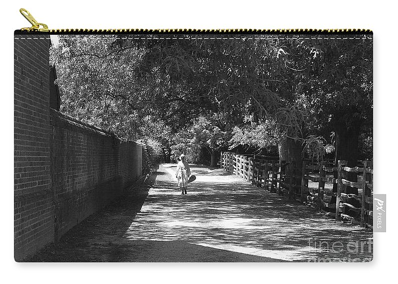 Colonial Carry-all Pouch featuring the photograph Stroll To Store by Eric Liller