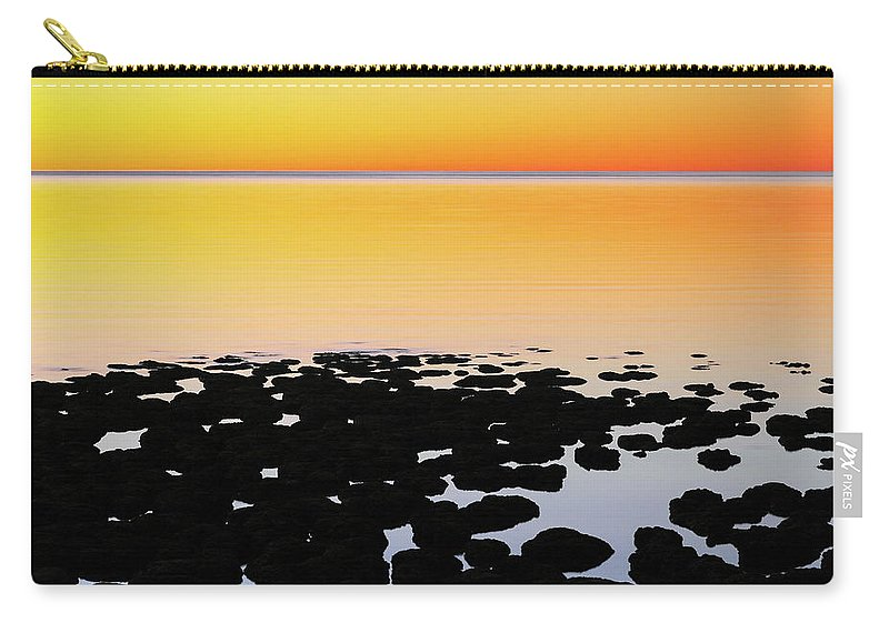Stromatolites Carry-all Pouch featuring the photograph Stromatolites - Hamlin Pool 2am-111193 by Andrew McInnes