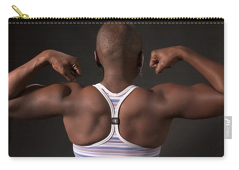 Black Woman Carry-all Pouch featuring the photograph Strong Black Woman by Bob Pardue