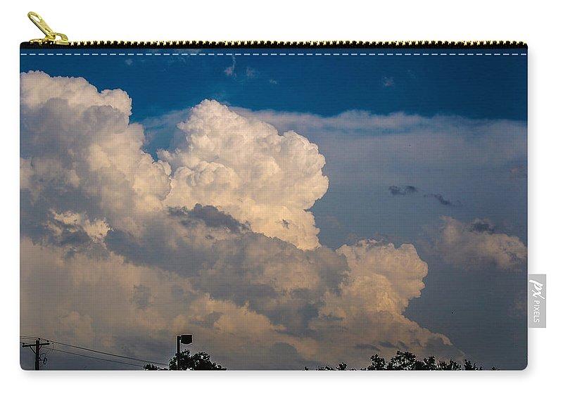 Nebraskasc Carry-all Pouch featuring the photograph Strong Nebraska Thunderstorm Cells by NebraskaSC