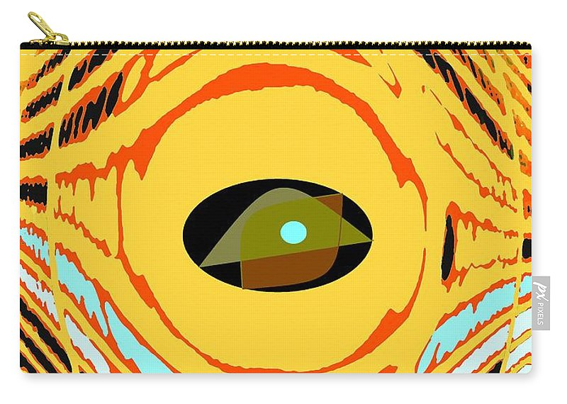 Yellow Carry-all Pouch featuring the photograph Structure In Perspective by Ian MacDonald