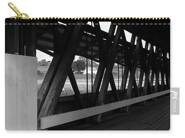 Digital Carry-all Pouch featuring the photograph Structure by Jeff Roney