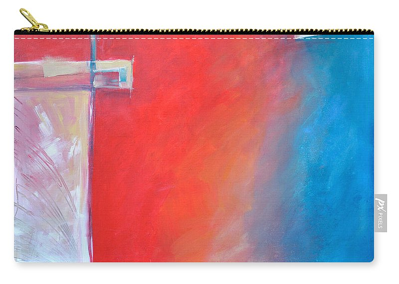 Abstract Carry-all Pouch featuring the painting Structures And Solitude Revisited by Tim Nyberg