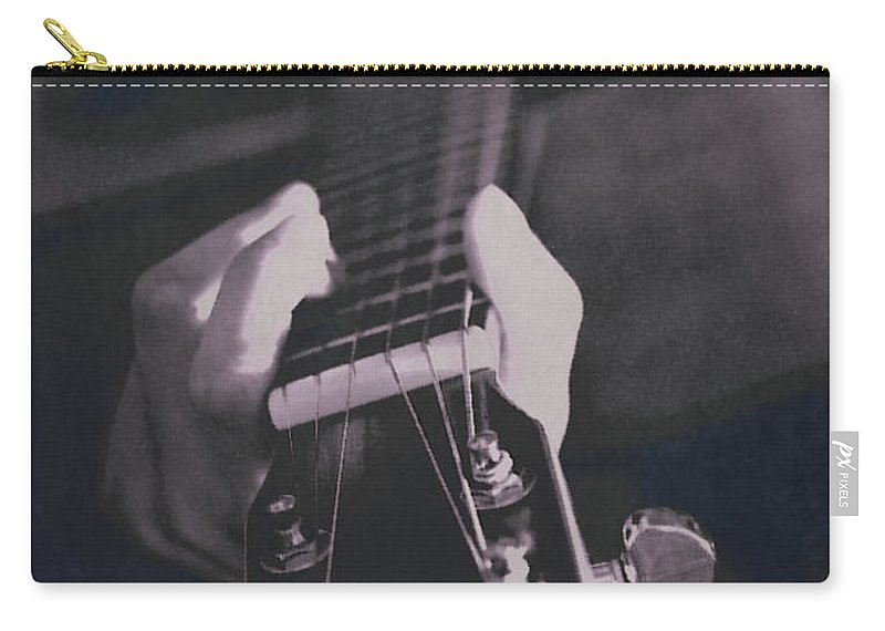 Manipulated Carry-all Pouch featuring the photograph Strum by Lisa Knechtel