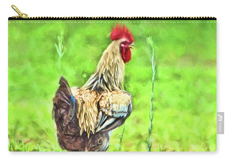 Birds Carry-all Pouch featuring the photograph Strut His Stuff by Jan Amiss Photography