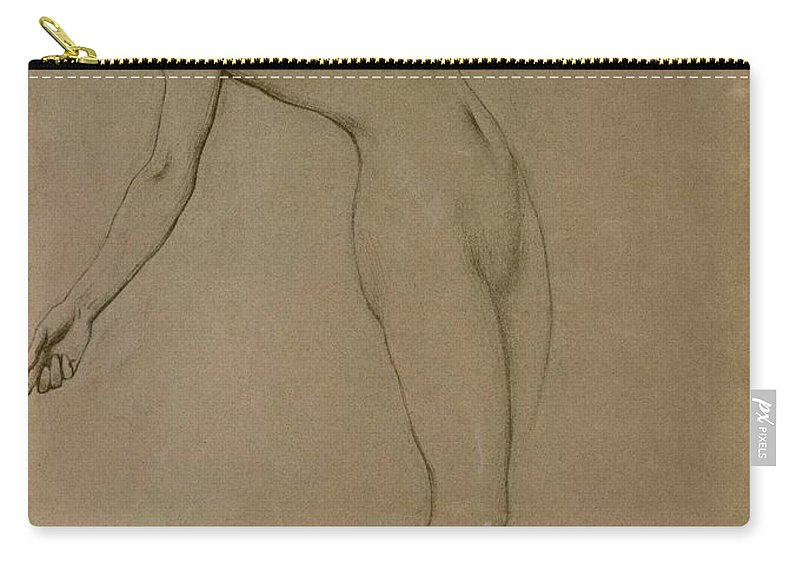 Study Carry-all Pouch featuring the drawing Study For Clyties Of The Mist by Herbert James Draper