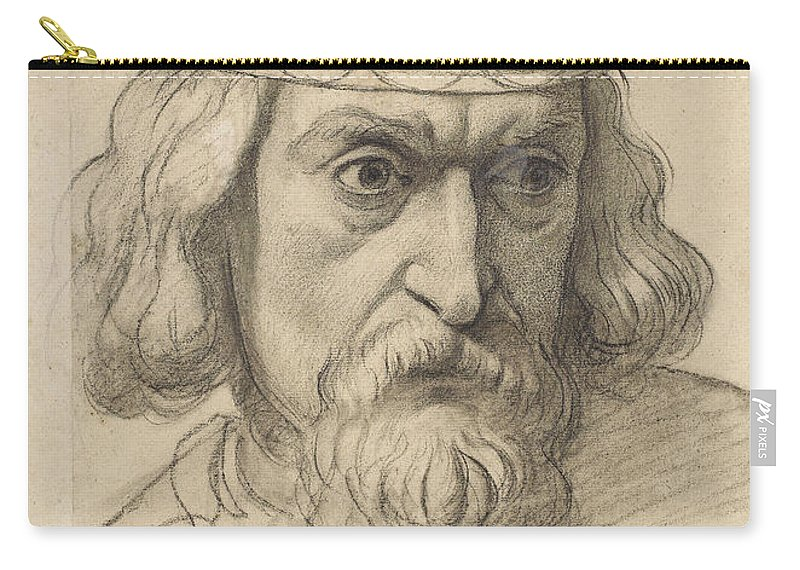 Ford Madox Brown Carry-all Pouch featuring the painting Study For The Head Of A Counsellor by Ford Madox Brown
