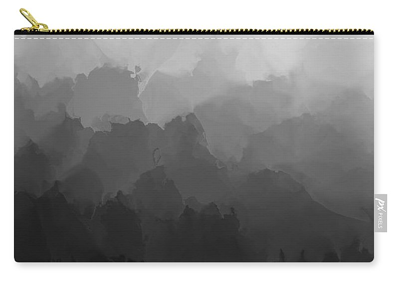 Fine Art Carry-all Pouch featuring the digital art Study In Black And White 110112 by David Lane