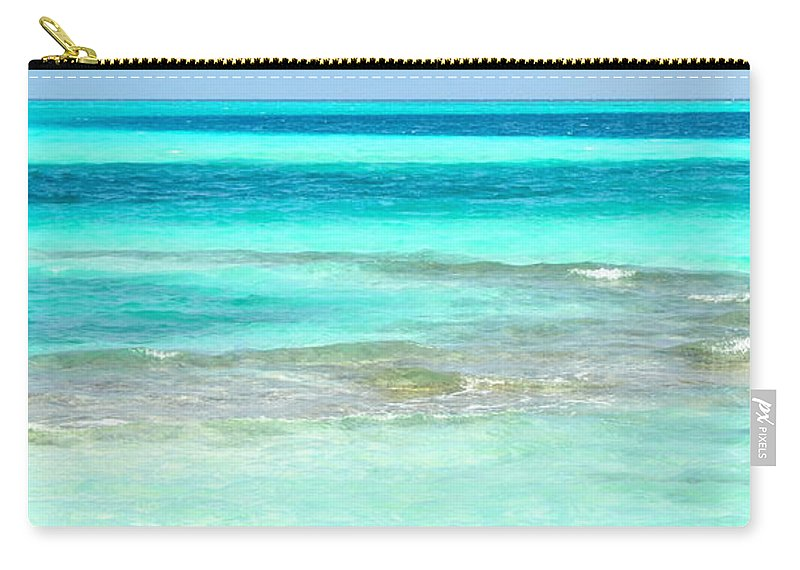Maldives Carry-all Pouch featuring the photograph Study In Blue by Corinne Rhode