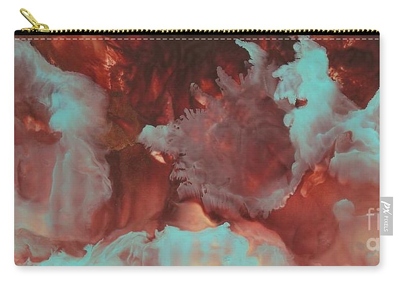 Nebula's Carry-all Pouch featuring the painting Study Of Nebula's # 2 by Lisa Grogan