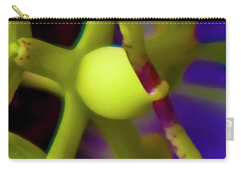 Passion Fruit Carry-all Pouch featuring the digital art Study Of Pistil And Stamen by Betsy Knapp